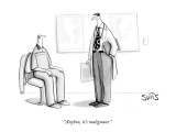 """Anyhoo, it's malignant."" - New Yorker Cartoon Premium Giclee Print by Julia Suits"