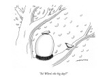 """So! When's the big day?"" - New Yorker Cartoon Premium Giclee Print by Mick Stevens"