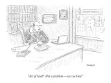 """Act of God?  Not a problem—we sue God."" - New Yorker Cartoon Premium Giclee Print by Robert Mankoff"