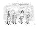 """At the Corner of Irate and Insane"" - New Yorker Cartoon Premium Giclee Print by Roz Chast"