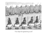 """""""I sure hope the negotiations go well."""" - New Yorker Cartoon Premium Giclee Print by Jason Patterson"""