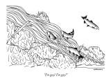 """I'm gay! I'm gay!"" - New Yorker Cartoon Premium Giclee Print by Alex Gregory"