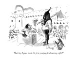 """But, hey, I guess this is the price you pay for dreaming, right?"" - New Yorker Cartoon Premium Giclee Print by Donald Reilly"