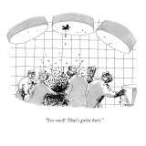 """Yee-ouch! That's gotta hurt."" - New Yorker Cartoon Premium Giclee Print by Jack Ziegler"