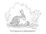 """I'm not hopping mad, just hopping disappointed."" - New Yorker Cartoon Premium Giclee Print by Pat Byrnes"