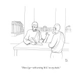 """There I go—still writing 'B.C.' on my checks."" - New Yorker Cartoon Premium Giclee Print by Paul Noth"