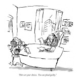 """Here are your choices. You can plead guilty."" - New Yorker Cartoon Premium Giclee Print by Sidney Harris"