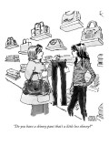 """Do you have a skinny pant that's a little less skinny?"" - New Yorker Cartoon Premium Giclee Print by Marisa Acocella Marchetto"