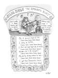 The Democrat Blues - New Yorker Cartoon Premium Giclee Print by Roz Chast