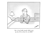 """2br, 1.5 ba, PreWr, hwd fl., EIK, hi ceil., lg. clsts, 24 hr., drmn, riv.…"" - New Yorker Cartoon Premium Giclee Print by Jose Arroyo"