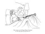 """How many verses of 'Froggie Went A-Courting' are there, Jay, before your …"" - New Yorker Cartoon Premium Giclee Print by Michael Crawford"