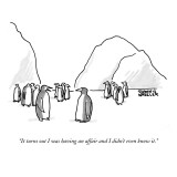 """""""It turns out I was having an affair and I didn't even know it."""" - New Yorker Cartoon Premium Giclee Print by Shannon Wheeler"""
