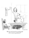 """But you can't miss her second-grade first-semester graduation!"" - New Yorker Cartoon Premium Giclee Print by Pat Byrnes"