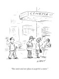 """""""One senior and one refuses to accept he's a senior."""" - New Yorker Cartoon Premium Giclee Print by David Sipress"""
