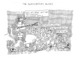 """""""The Participatory Blues"""" - New Yorker Cartoon Premium Giclee Print by Michael Crawford"""