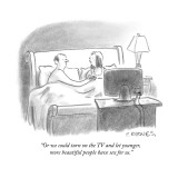 """""""Or we could turn on the TV and let younger, more beautiful people have se…"""" - New Yorker Cartoon Premium Giclee Print by Pat Byrnes"""
