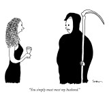 """You simply must meet my husband."" - New Yorker Cartoon Premium Giclee Print by Michael Shaw"