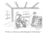 """Oh shoot, we still need to get Hanukkah gifts for the Rosenbaums."" - New Yorker Cartoon Premium Giclee Print by Zachary Kanin"