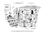 """Let's go someplace awful to avoid the tourists."" - New Yorker Cartoon Premium Giclee Print by David Sipress"