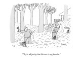 """They're all pretty, but this one is my favorite."" - New Yorker Cartoon Premium Giclee Print by Jack Ziegler"