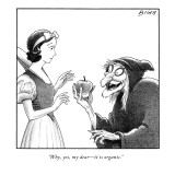 """Why, yes, my dear—it is organic."" - New Yorker Cartoon Premium Giclee Print by Harry Bliss"