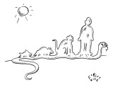 Snake's body in the shape of everything it's eaten. - New Yorker Cartoon Premium Giclee Print by Farley Katz
