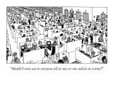 """""""Should I come out to everyone all at once or one cubicle at a time?"""" - New Yorker Cartoon Premium Giclee Print by William Haefeli"""