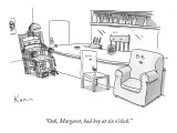 """Ooh Margaret, bad boy at six o'clock."" - New Yorker Cartoon Premium Giclee Print by Zachary Kanin"