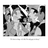 """It's been so long—it's like I'm only gay in theory."" - New Yorker Cartoon Premium Giclee Print by William Haefeli"
