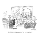"""""""In high school, I was quite the star in metal shop."""" - New Yorker Cartoon Premium Giclee Print by Pat Byrnes"""