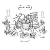 """Any requests?"" - New Yorker Cartoon Premium Giclee Print by Robert Leighton"