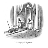 """""""There goes your knighthood."""" - New Yorker Cartoon Premium Giclee Print by Frank Cotham"""