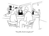 """You folks drunk enough yet?"" - New Yorker Cartoon Premium Giclee Print by Michael Shaw"
