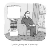 """Of course I got rid of him...in my own way."" - New Yorker Cartoon Premium Giclee Print by Peter C. Vey"