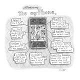 """Introducing The myPhone."" An iPhone has applications including ""Fat Spec,…"" - New Yorker Cartoon Premium Giclee Print by Roz Chast"