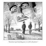"""Sometimes I get the feeling your 'ex' is still in the picture."" - New Yorker Cartoon Premium Giclee Print by Harry Bliss"