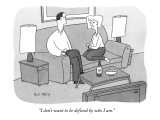 """I don't want to be defined by who I am."" - New Yorker Cartoon Premium Giclee Print by Peter C. Vey"