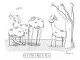 Remainders - New Yorker Cartoon Premium Giclee Print by Zachary Kanin