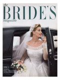 Brides Cover - February, 1953 Premium Giclee Print by William Helburn