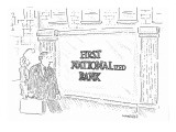 First Nationalized Bank - New Yorker Cartoon Premium Giclee Print by Robert Mankoff