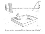 """It turns out I just wasted the whole morning networking with a dog."" - New Yorker Cartoon Premium Giclee Print by Zachary Kanin"