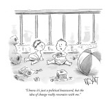 """I know it's just a political buzzword, but the idea of change really reso…"" - New Yorker Cartoon Premium Giclee Print by Christopher Weyant"