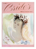 Brides Cover - October, 1938 Premium Giclee Print by Mary A. Barker