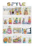 """Title """"Style"""". A full page describing a lifetime of insecurity about cloth… - New Yorker Cartoon Premium Giclee Print by Roz Chast"""