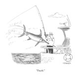 """""""Touché."""" - New Yorker Cartoon Premium Giclee Print by Pat Byrnes"""