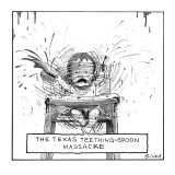 Texas Teething-Spoon Massacre - New Yorker Cartoon Premium Giclee Print by Harry Bliss