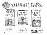 Narcissist Cards. - New Yorker Cartoon Premium Giclee Print by Roz Chast
