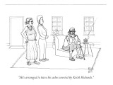 """He's arranged to have his ashes snorted by Keith Richards."" - New Yorker Cartoon Premium Giclee Print by Paul Noth"