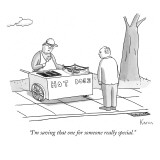 """I'm saving that one for someone really special."" - New Yorker Cartoon Premium Giclee Print by Zachary Kanin"