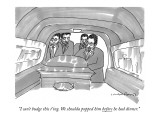 """""""I can't budge this t'ing. We shoulda popped him before he had dinner."""" - New Yorker Cartoon Premium Giclee Print by Michael Crawford"""